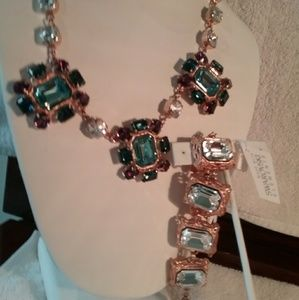 Swarovski jewelry necklace and bracelet with tag